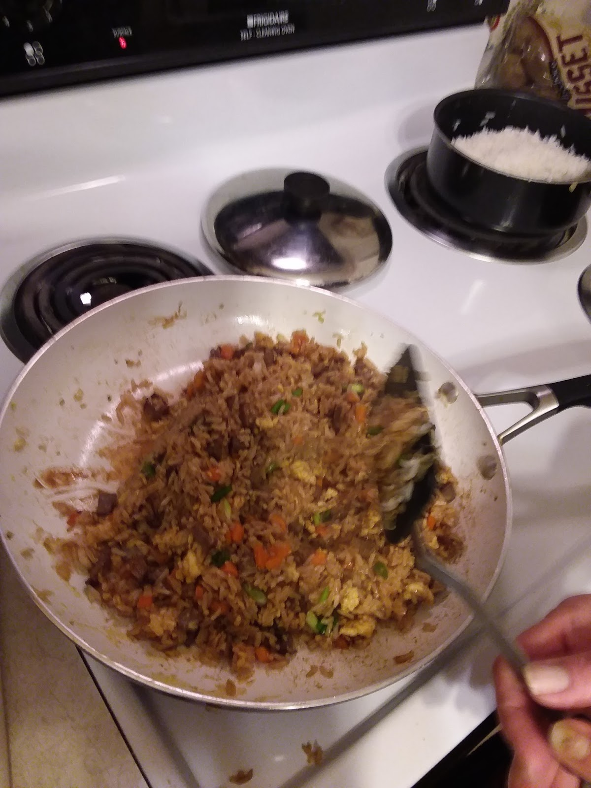 Beef fried rice cooking adventures add oyster sauce and soy sauce mix in well i enjoy making fried rice ccuart Image collections